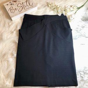 BCBG MaxAzria Pencil Skirt Stretch Ponte Knit, 6